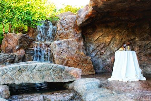 Free stock photo of bread, glass of wine, waterfall, wedding