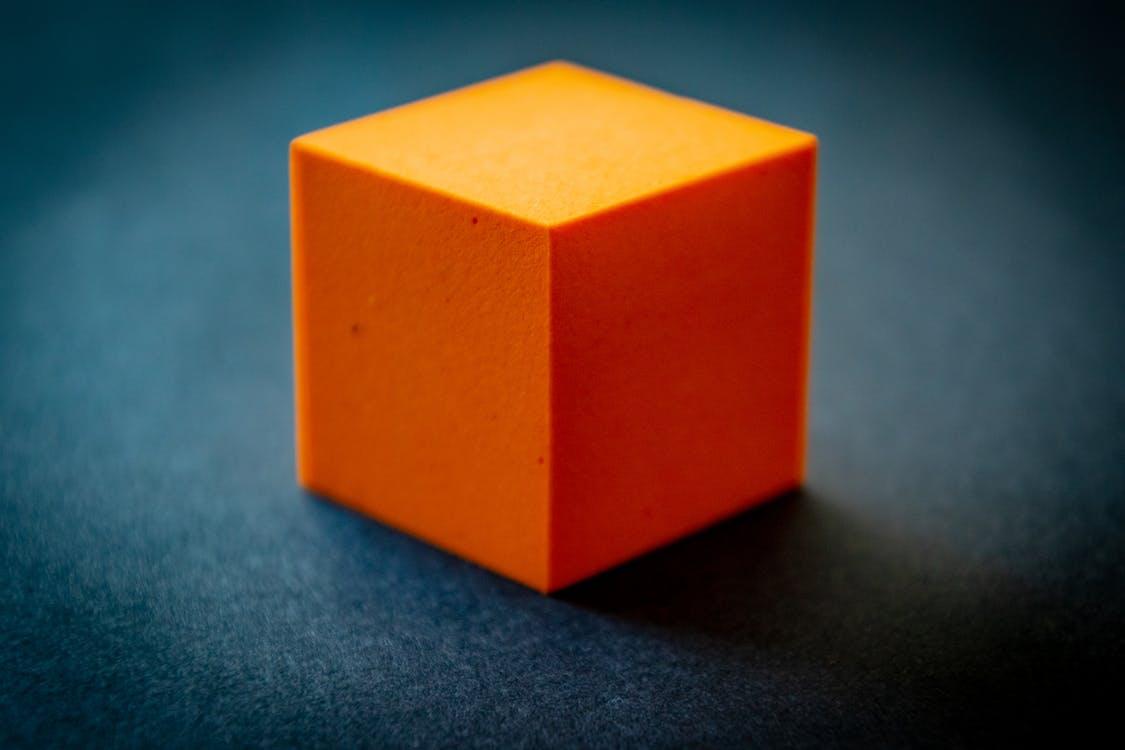 block, orange, schaum