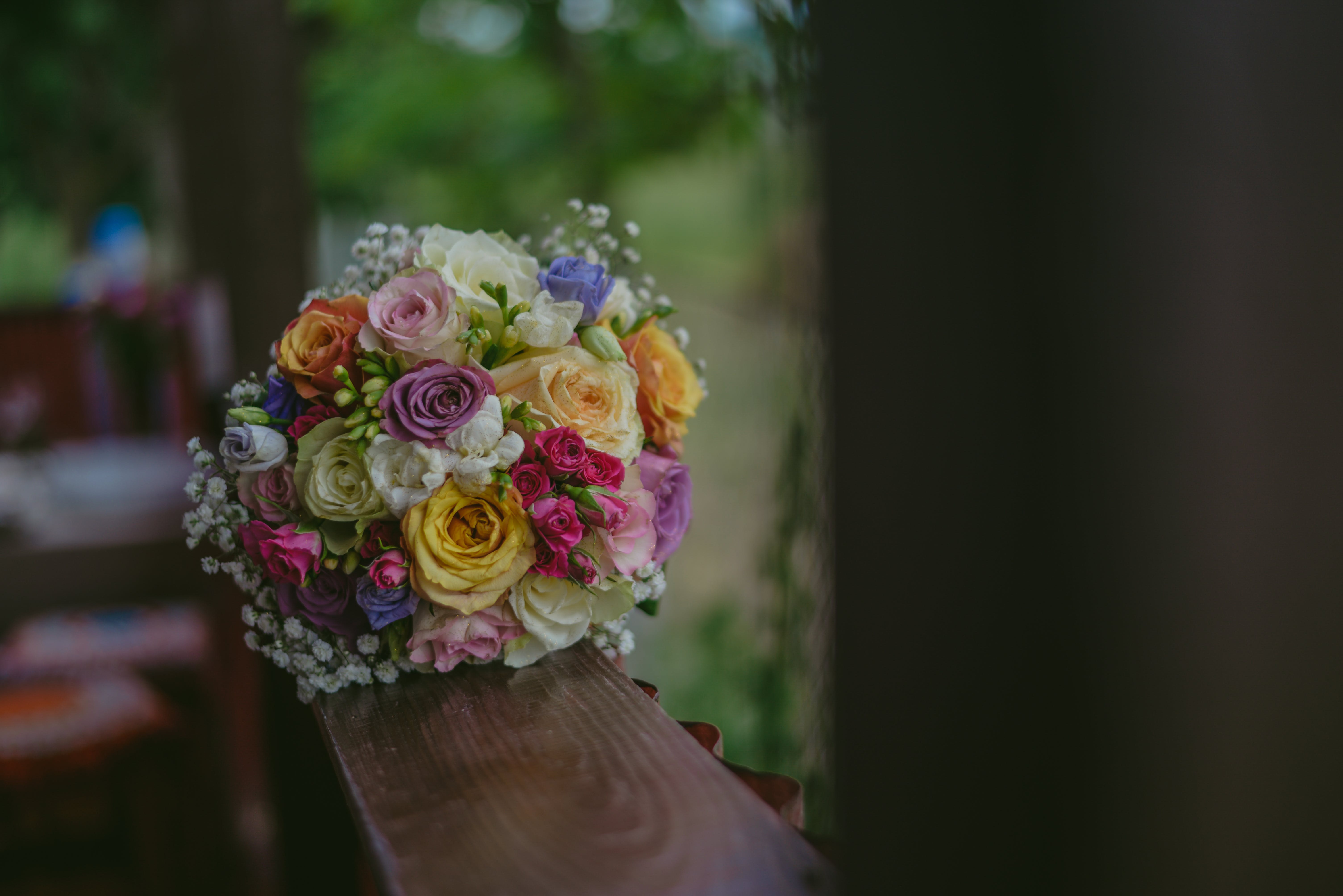 Free stock photo of bridal bouquet, colors, flowers, roses