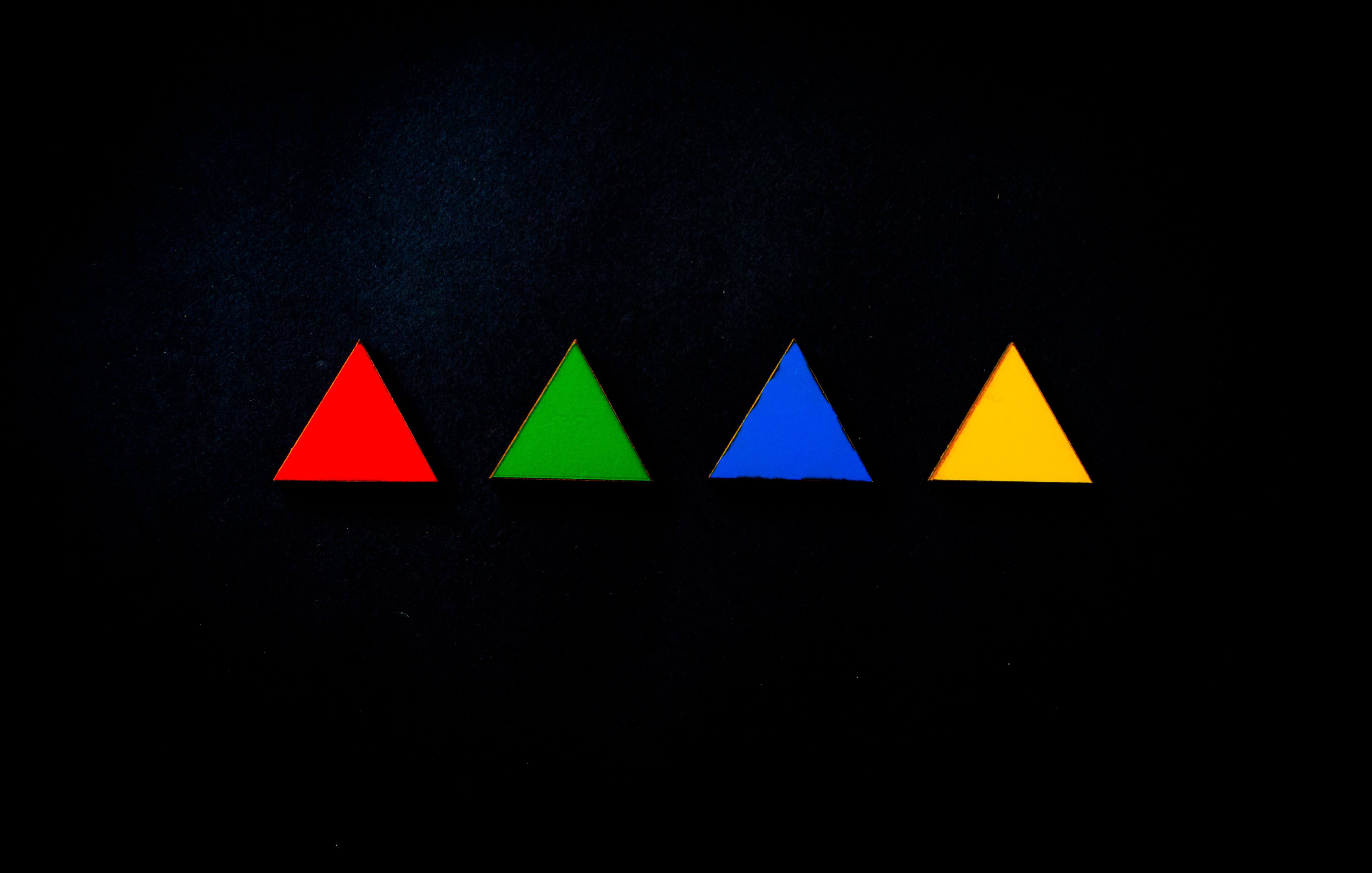 Бесплатное стоковое фото с иллюстрация, красочный, треугольник, фигура