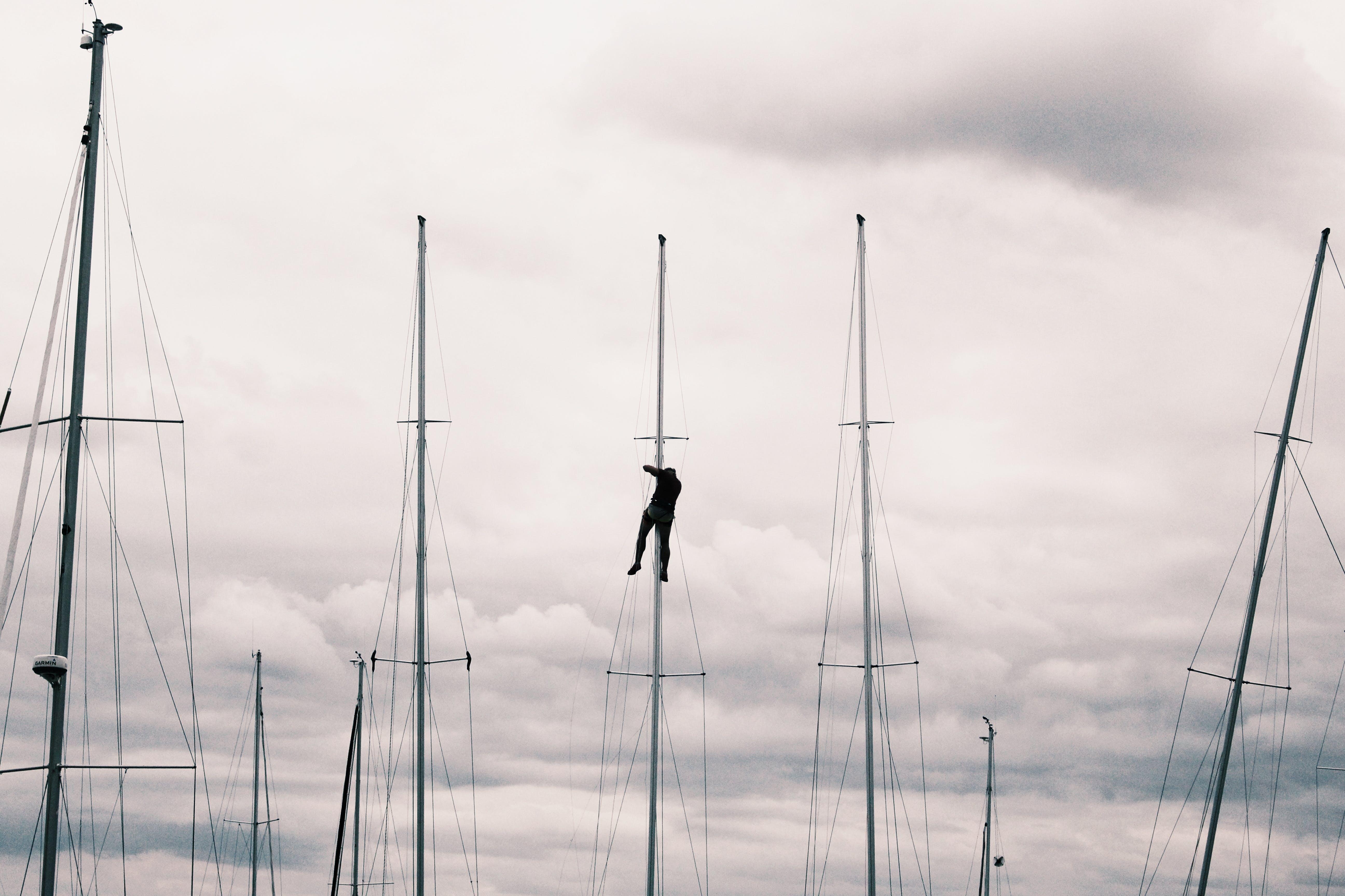 交通系統, 人, 天空, 帆 的 免费素材照片