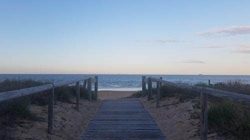 Free stock photo of beach, Beach at dusk, Beach entry, blue skies