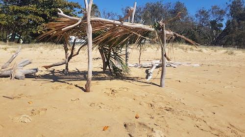 Free stock photo of Australian beach, beach hut, Beach shade, blue skies
