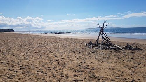 Free stock photo of beach, beach hut, beachwalk, blue skies