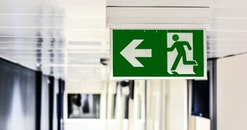 exit, arrow, blur