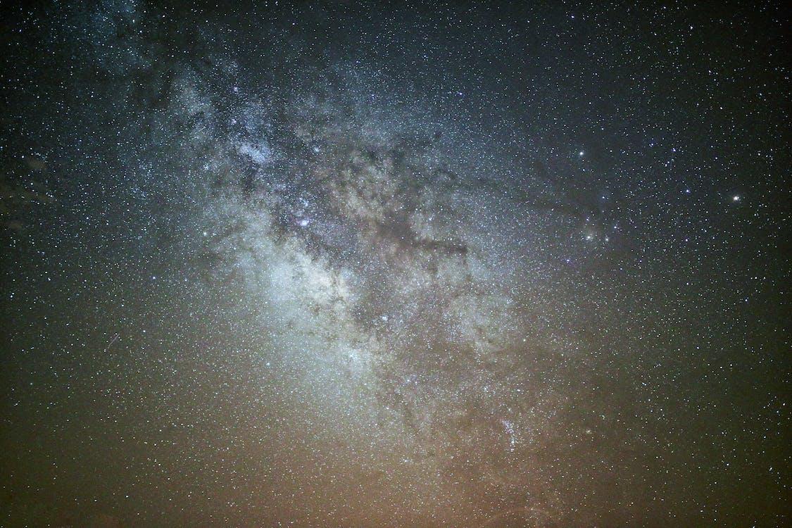 astronomía, brillante, cielo