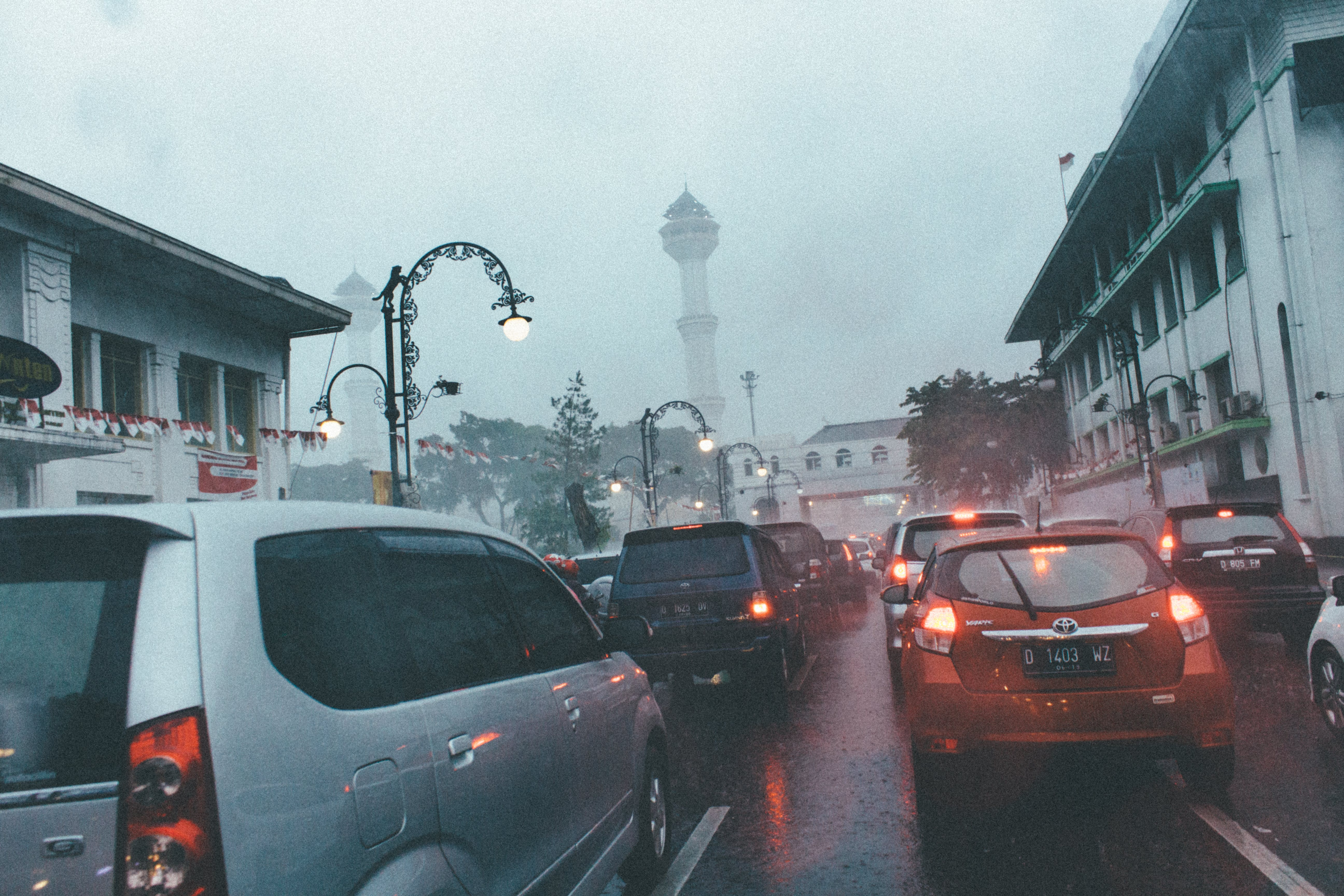 Free stock photo of bandung, cars, cloudy, dark