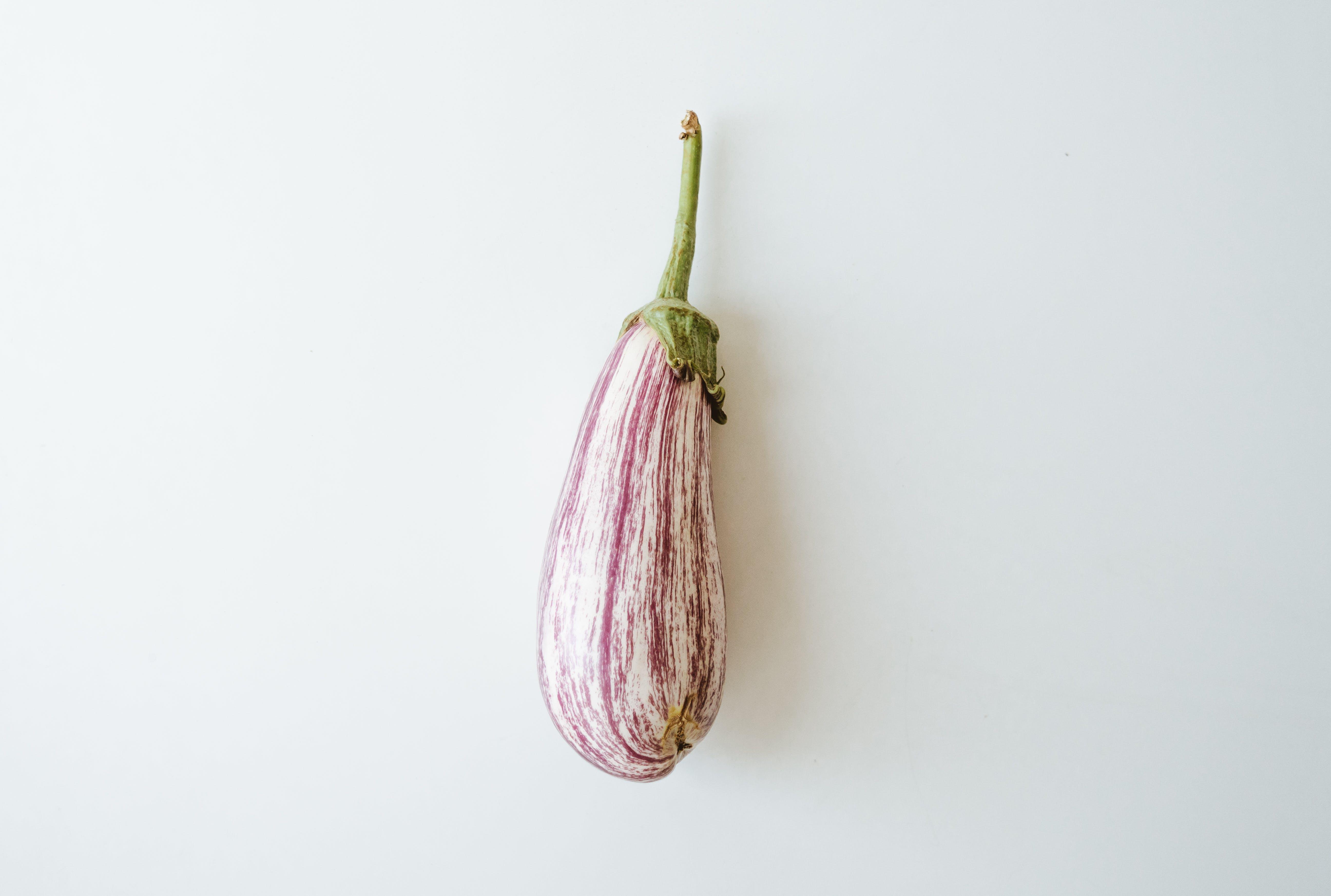 White And Purple Eggplant