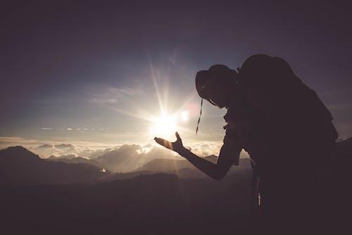 Foto stok gratis alam, awan gelap, backlit, cahaya matahari
