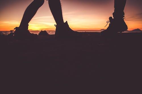 Silhouette Of Feet