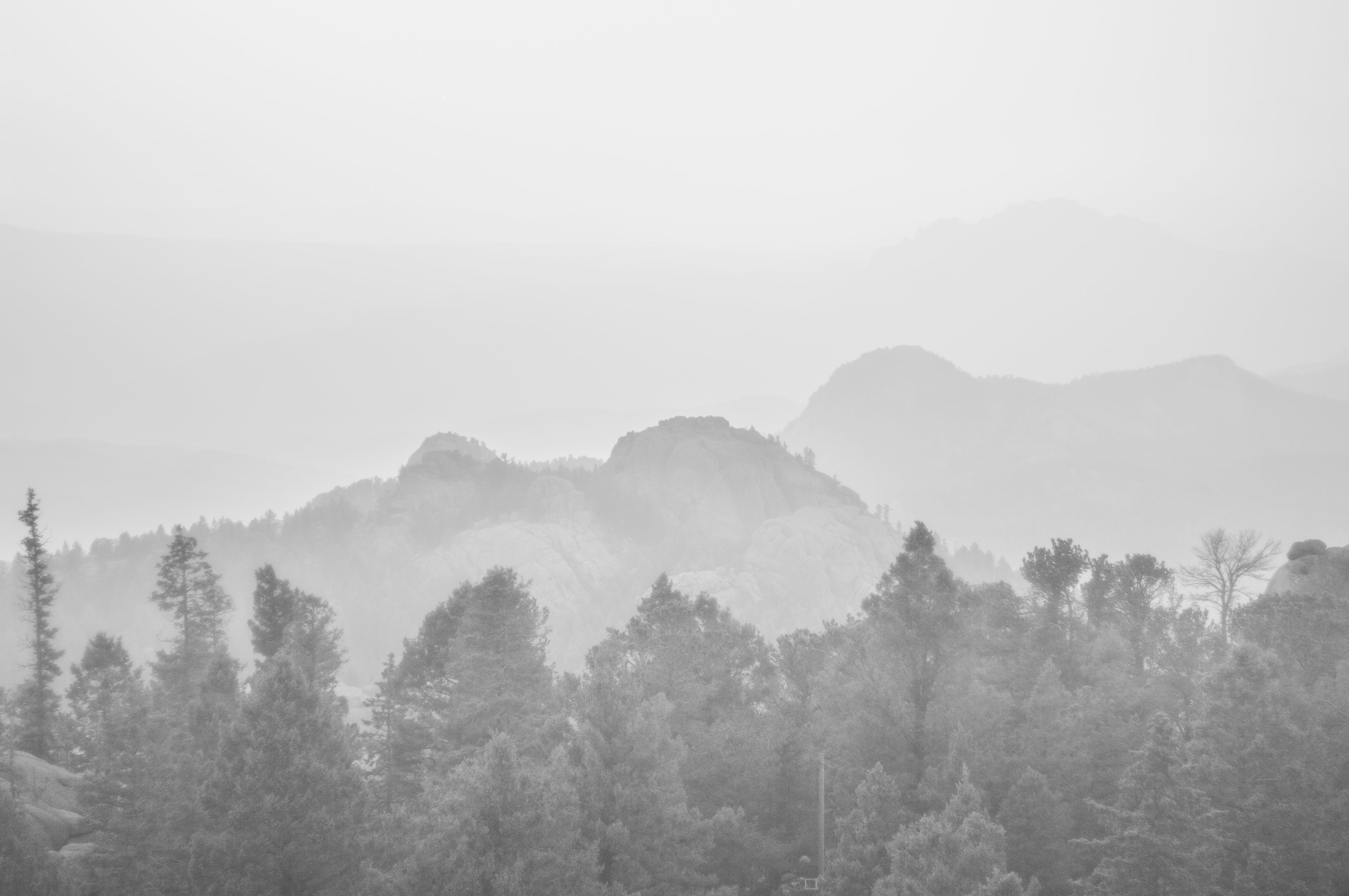 Foto profissional grátis de Colorado, enevoado, garoa, montanha