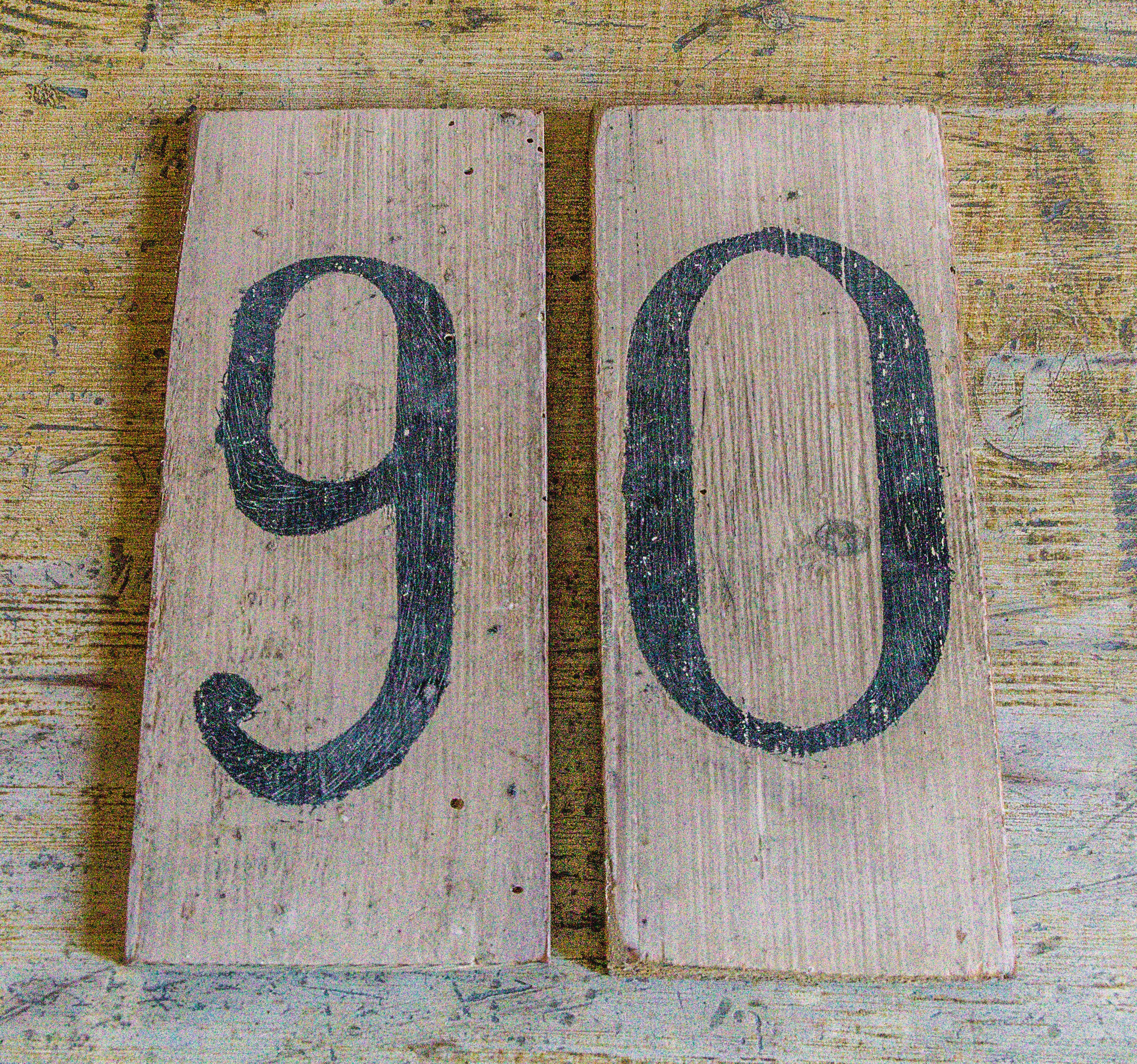 Free stock photo of 90, number, numbers