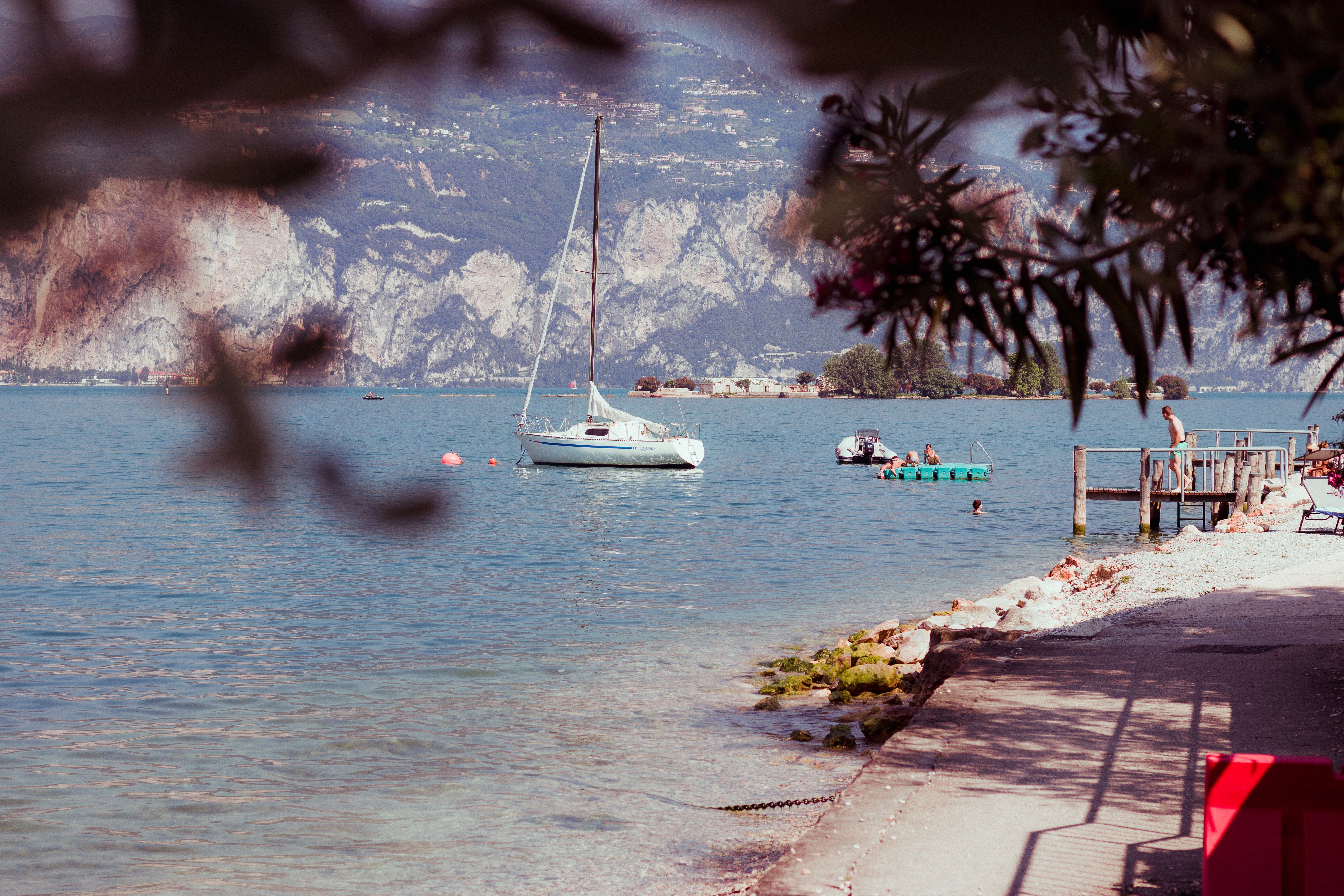 White Sail Boat on the Water