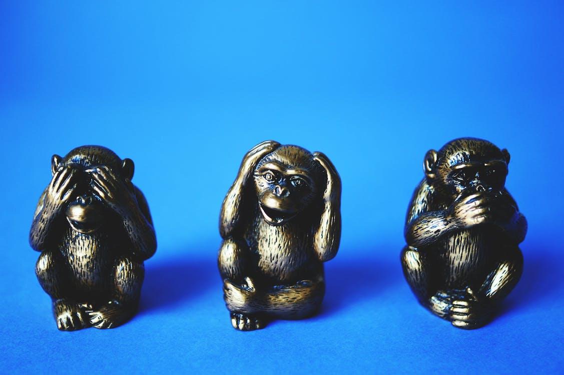 Three Wise Monkey Figurines