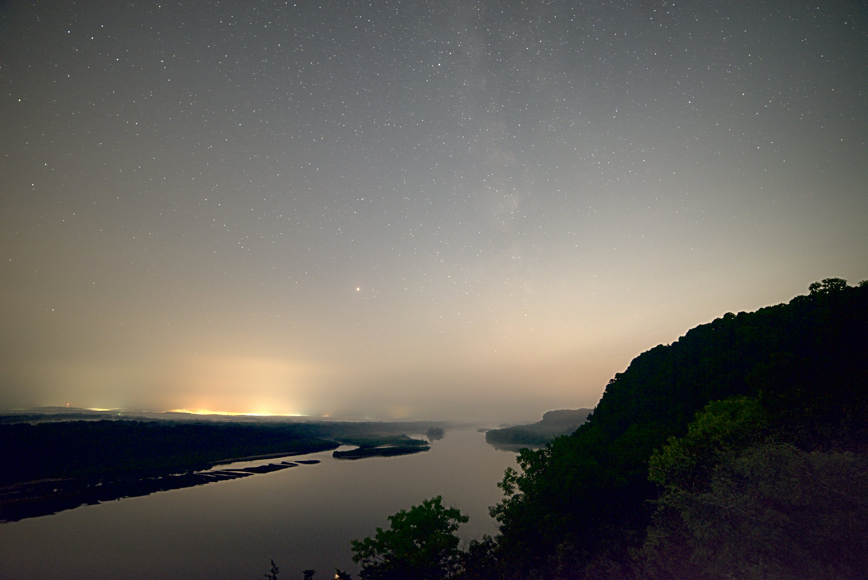 Free stock photo of Bluff, darkness, galaxy, landscape
