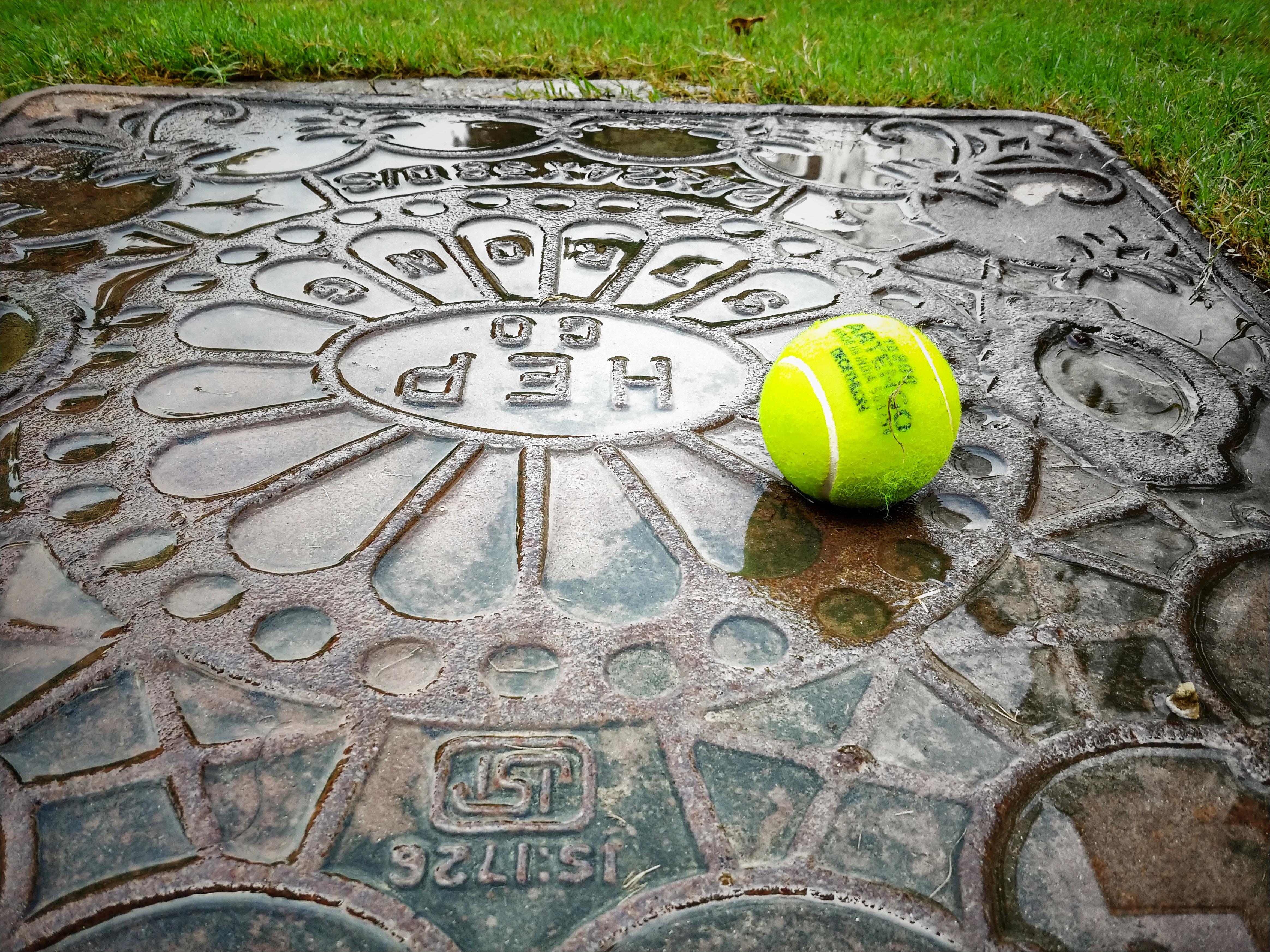 Free stock photo of ball, Ball on the ground, tennis ball