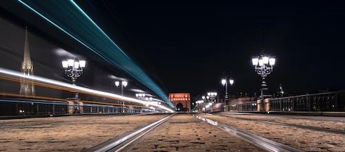 Бесплатное стоковое фото с бордо, мост, ночная жизнь, ночные огни
