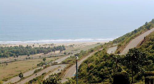 Free stock photo of a view, vizag, zigzag