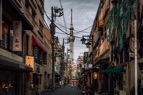 Street Under Cloudy Sky