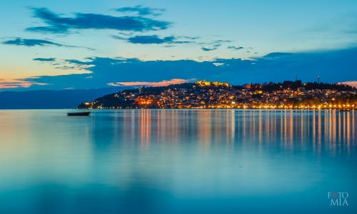 Free stock photo of night view, ohrid, panorama