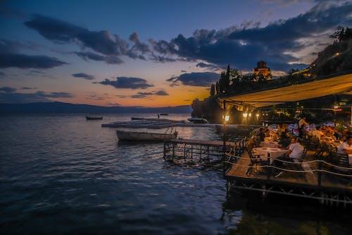레스토랑, 마케도니아, 바다, 새벽의 무료 스톡 사진