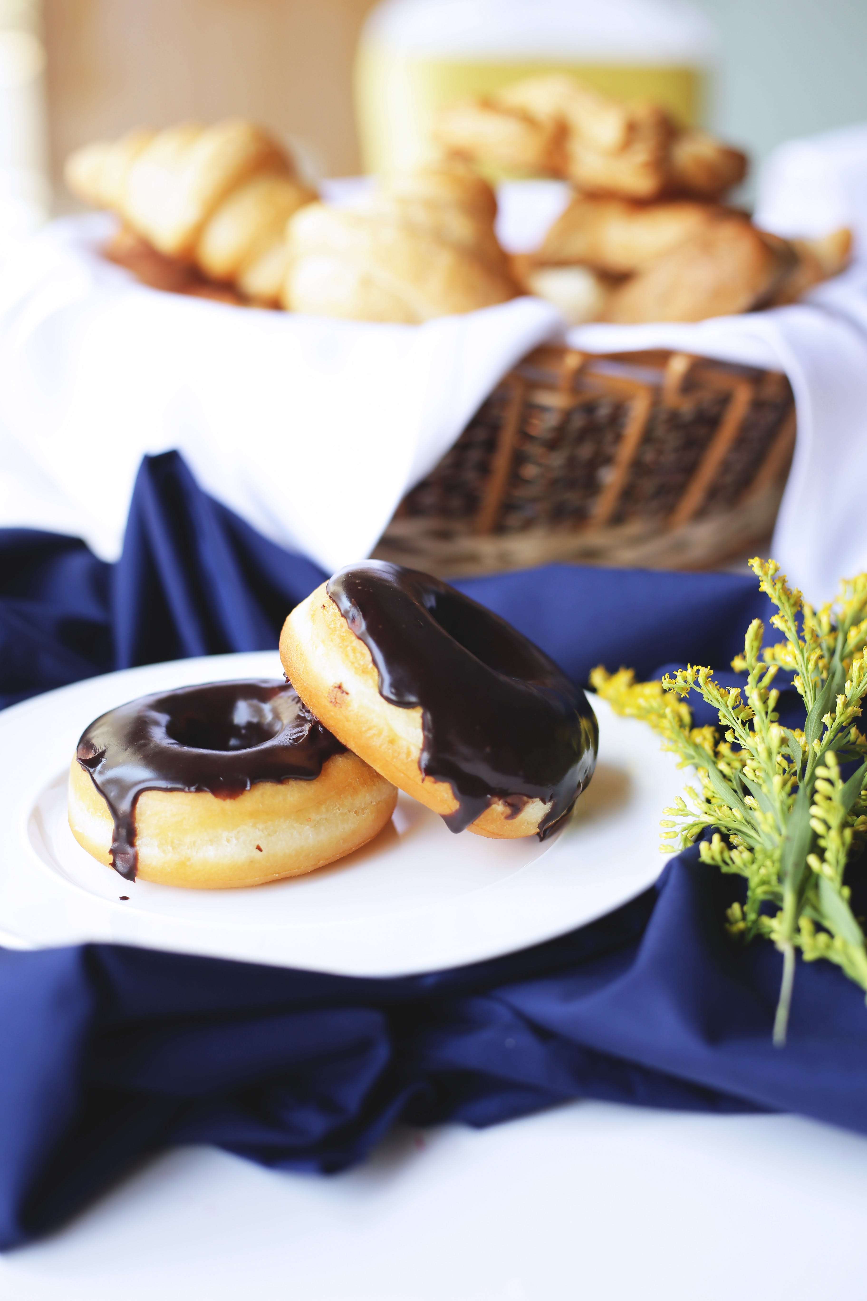 Selective Focus Photography Of Doughnuts On Plate