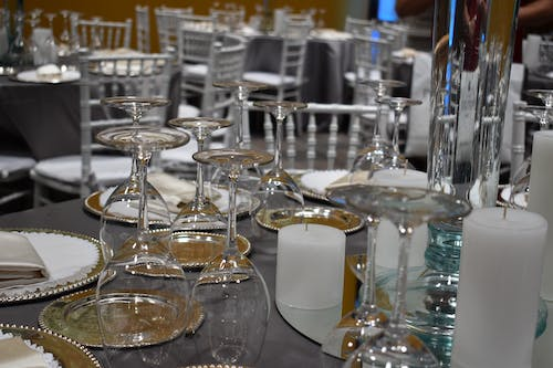 Free stock photo of dishes, wedding party