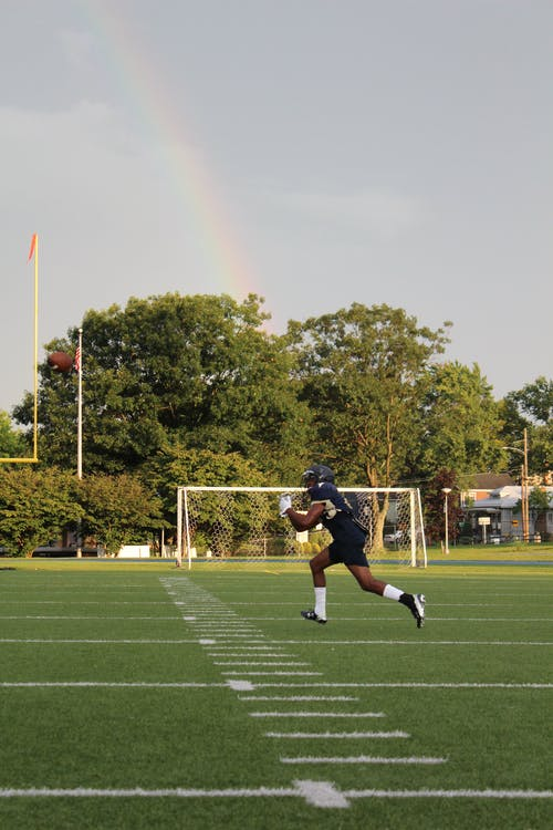 Football Player on Field