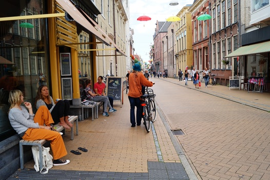 Free stock photo of city, road, restaurant, couple