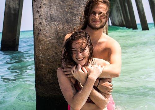 カップル, ビーチ, 愛, 水の無料の写真素材