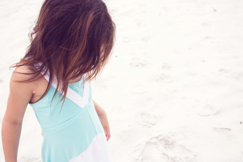 Free stock photo of beach, girl, kid, ocean