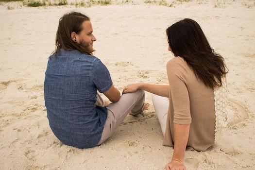 Free stock photo of beach, couple, love, summer