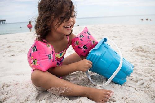 คลังภาพถ่ายฟรี ของ ชายหาด, ทราย, ทารก, น้ำ
