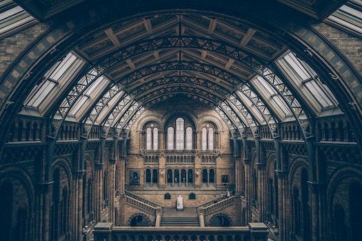 Kostenloses Stock Foto zu licht, architektur, decke, innere