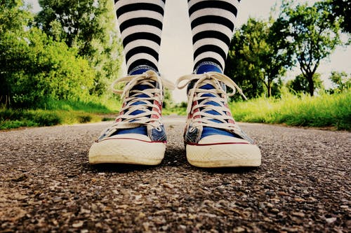 Free stock photo of female, leg, leisure, sneakers