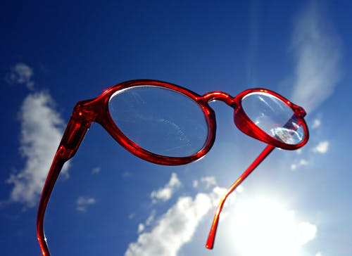 Free stock photo of clouds, eyewear, optical, sky