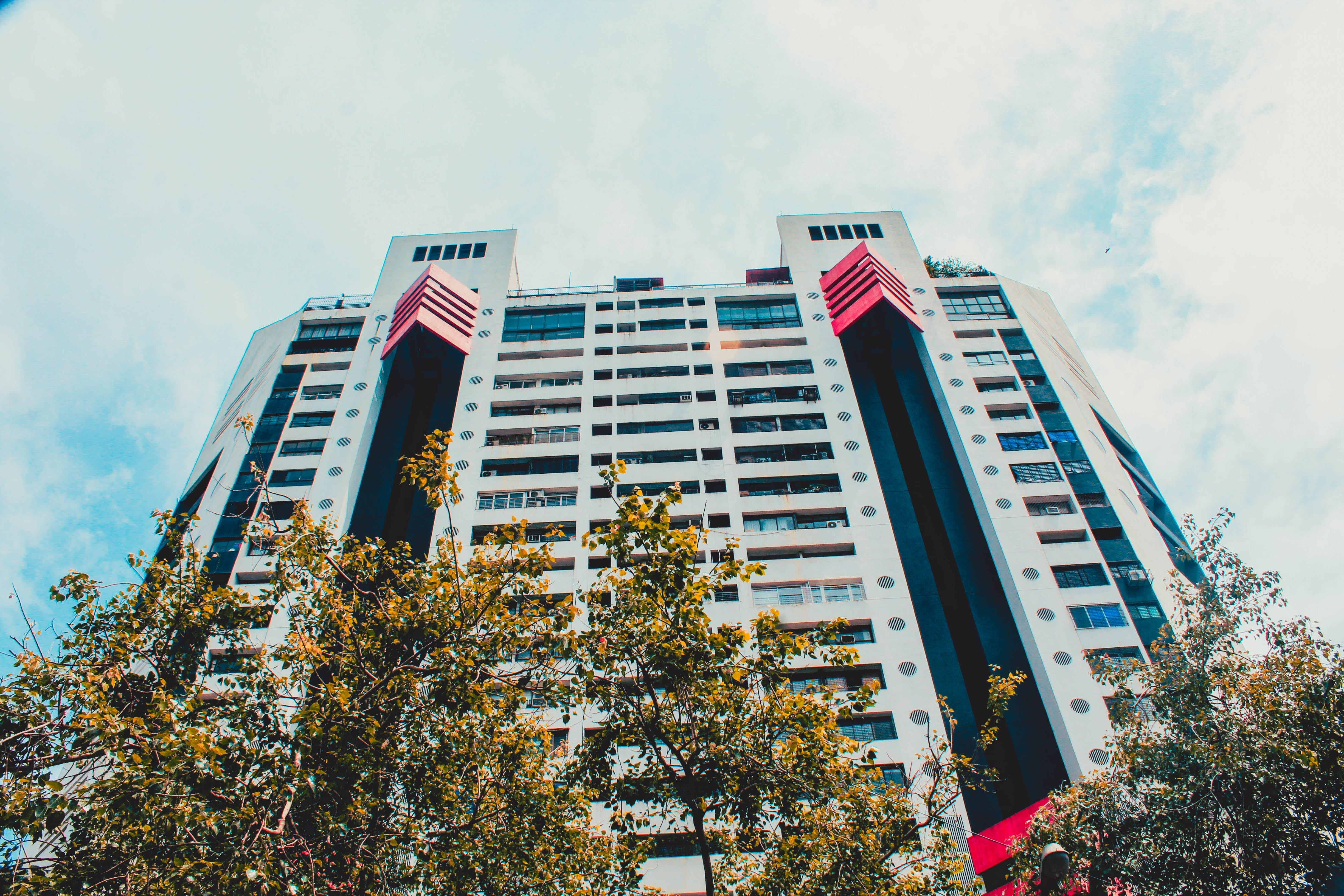 Free stock photo of apartment buildings, architectural design, buldings, sky
