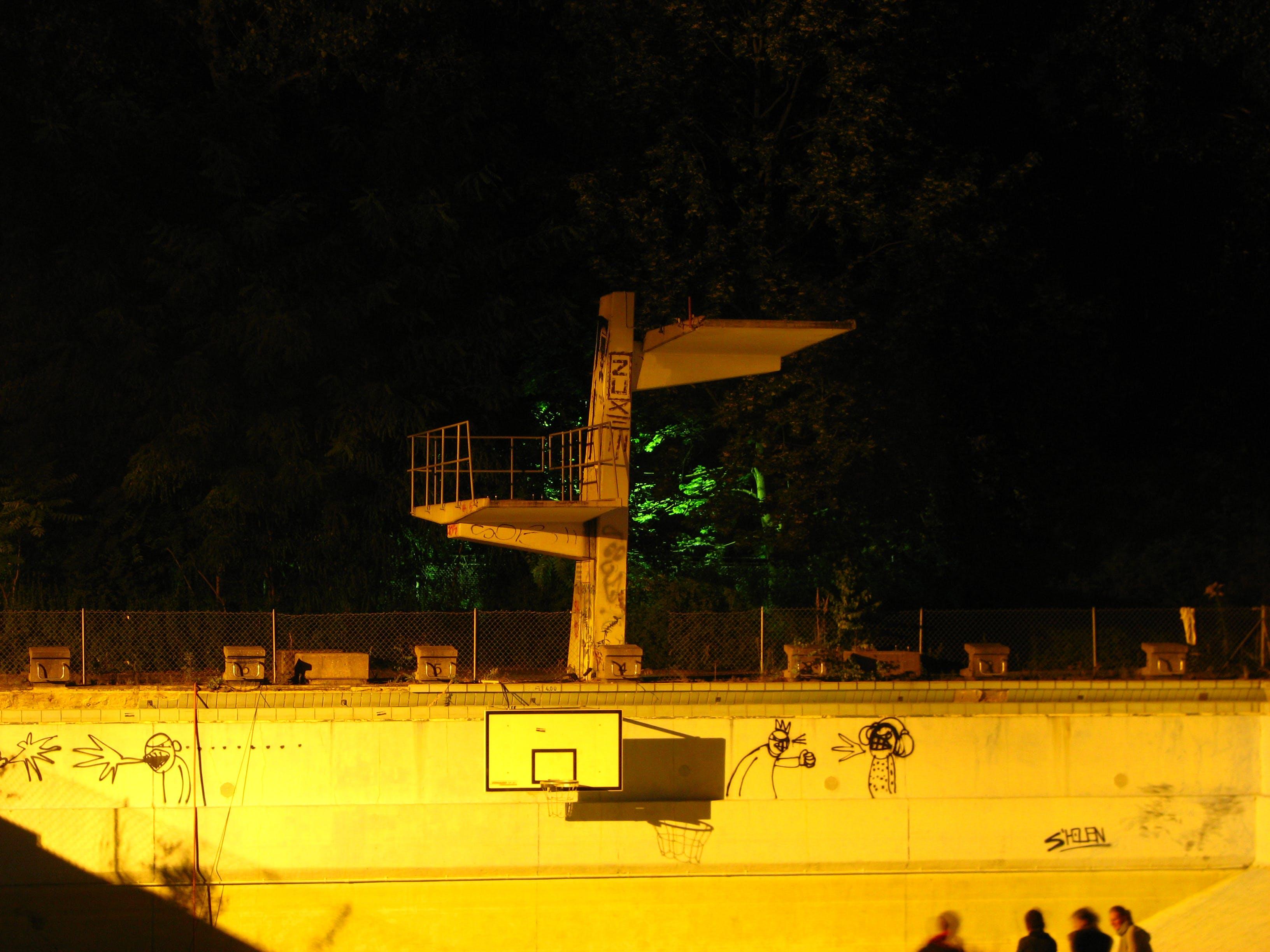 graffiti, pool, retro