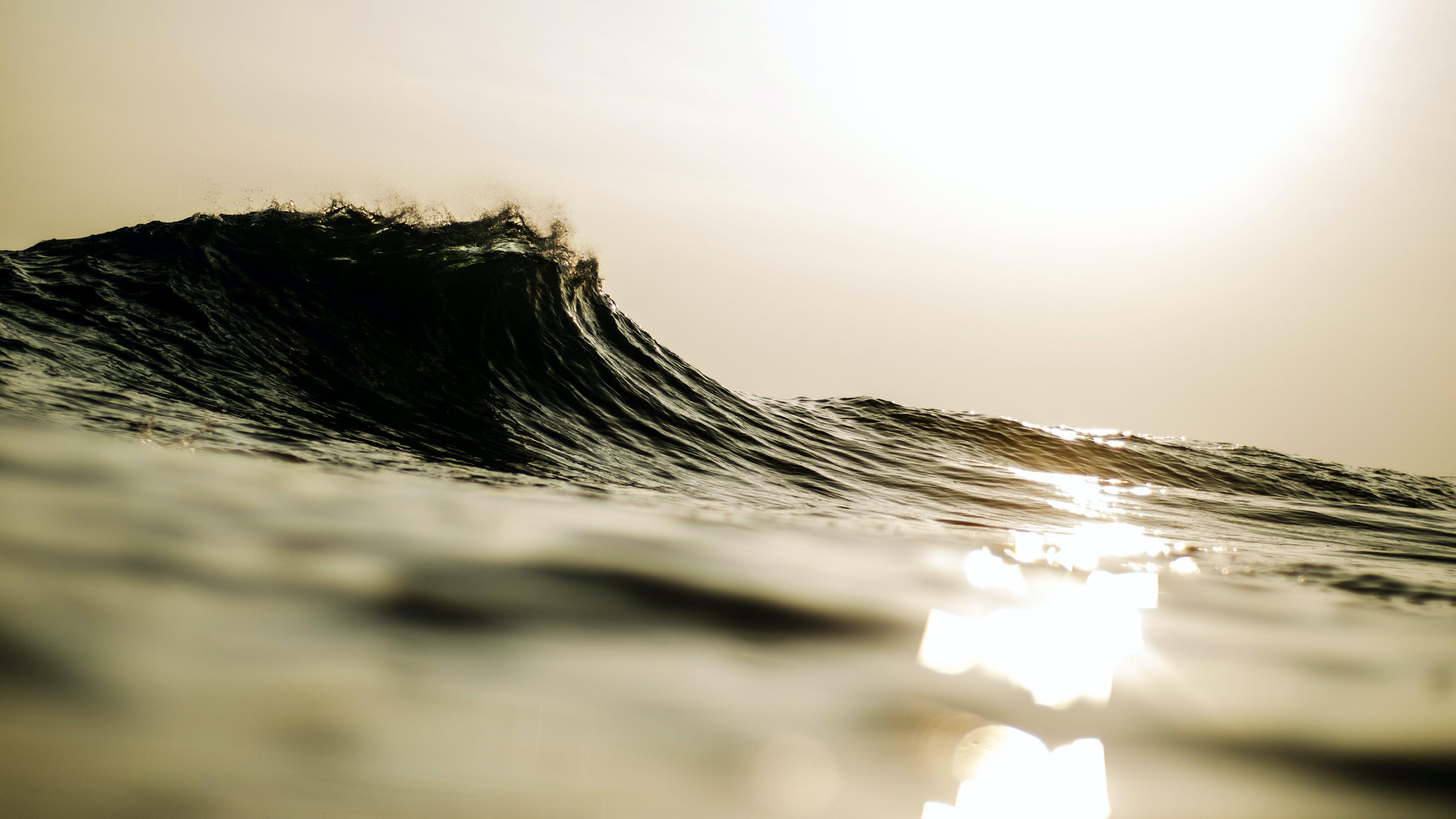 Δωρεάν στοκ φωτογραφιών με Surf, αντανάκλαση, απόγευμα, αποτέλεσμα
