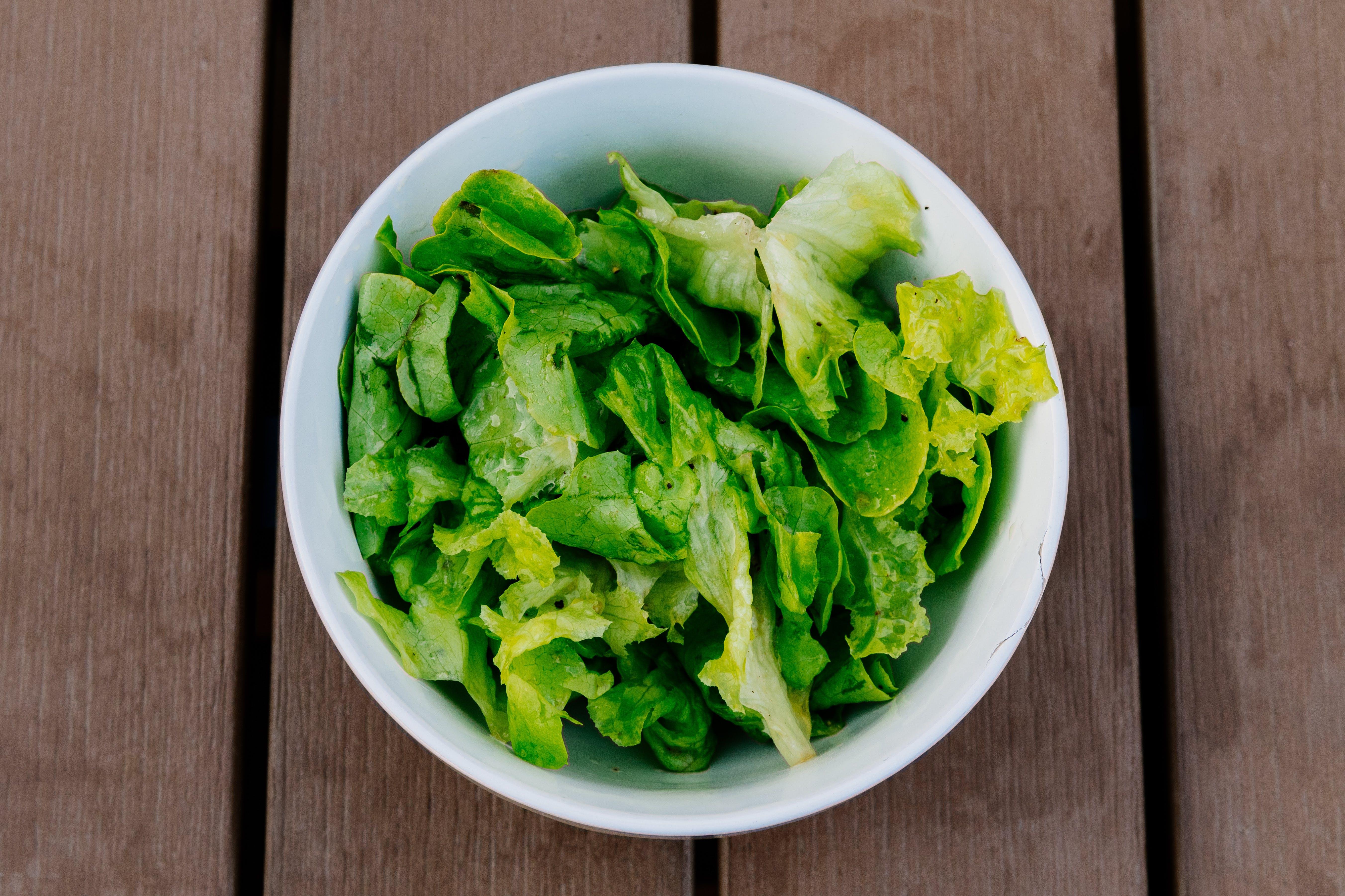 Green Vegetable in White Bowl