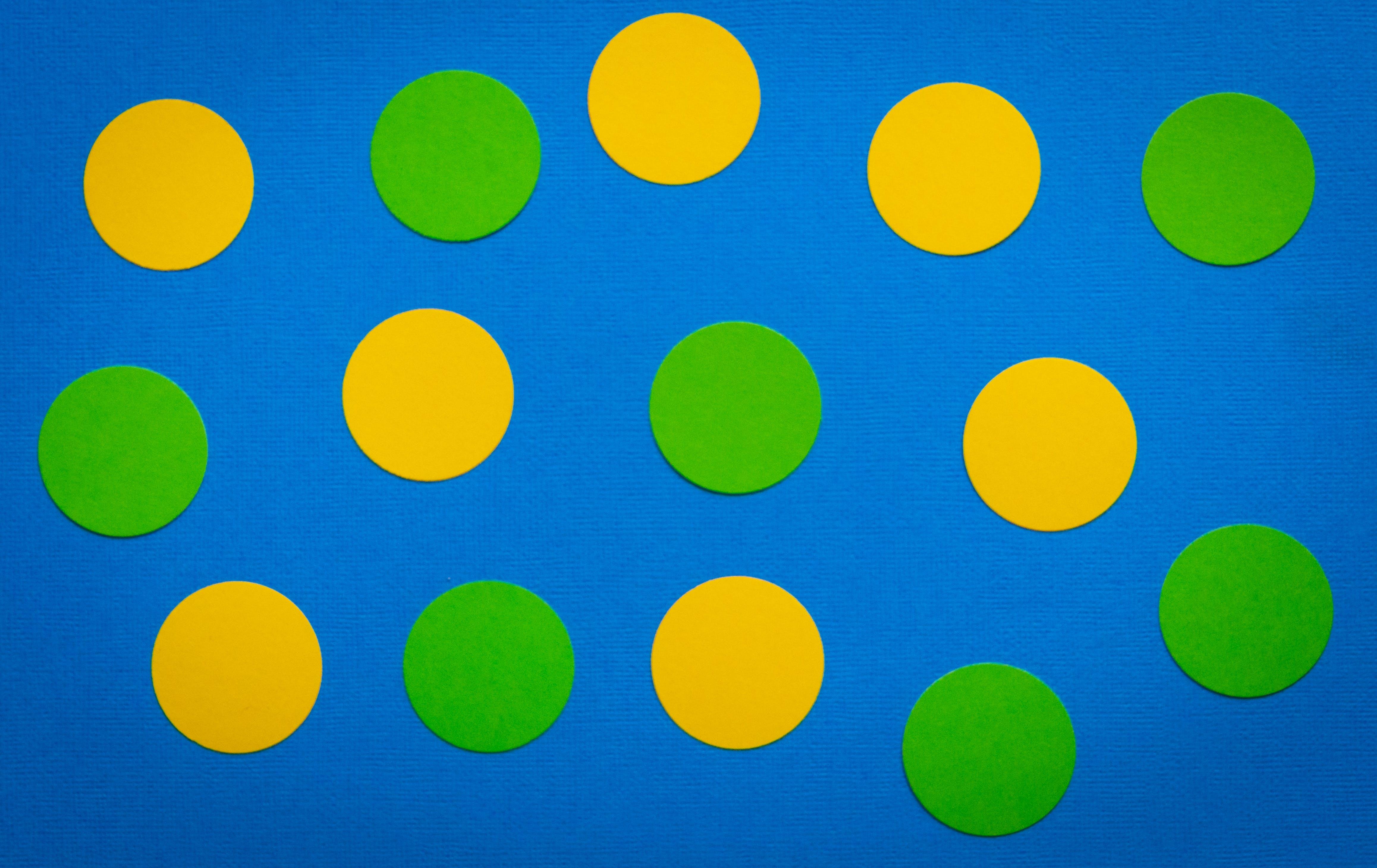 Kostenloses Stock Foto zu blau, bunt, gelb, grün