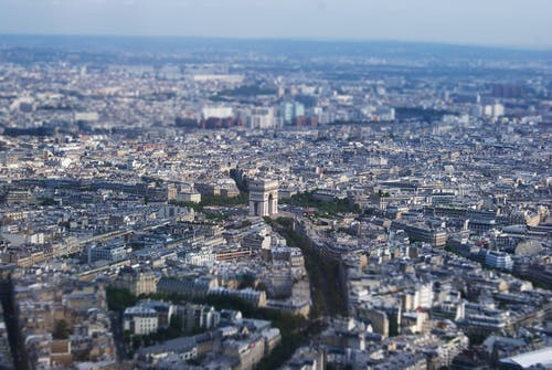 Free stock photo of city, eiffel tower, france, overview