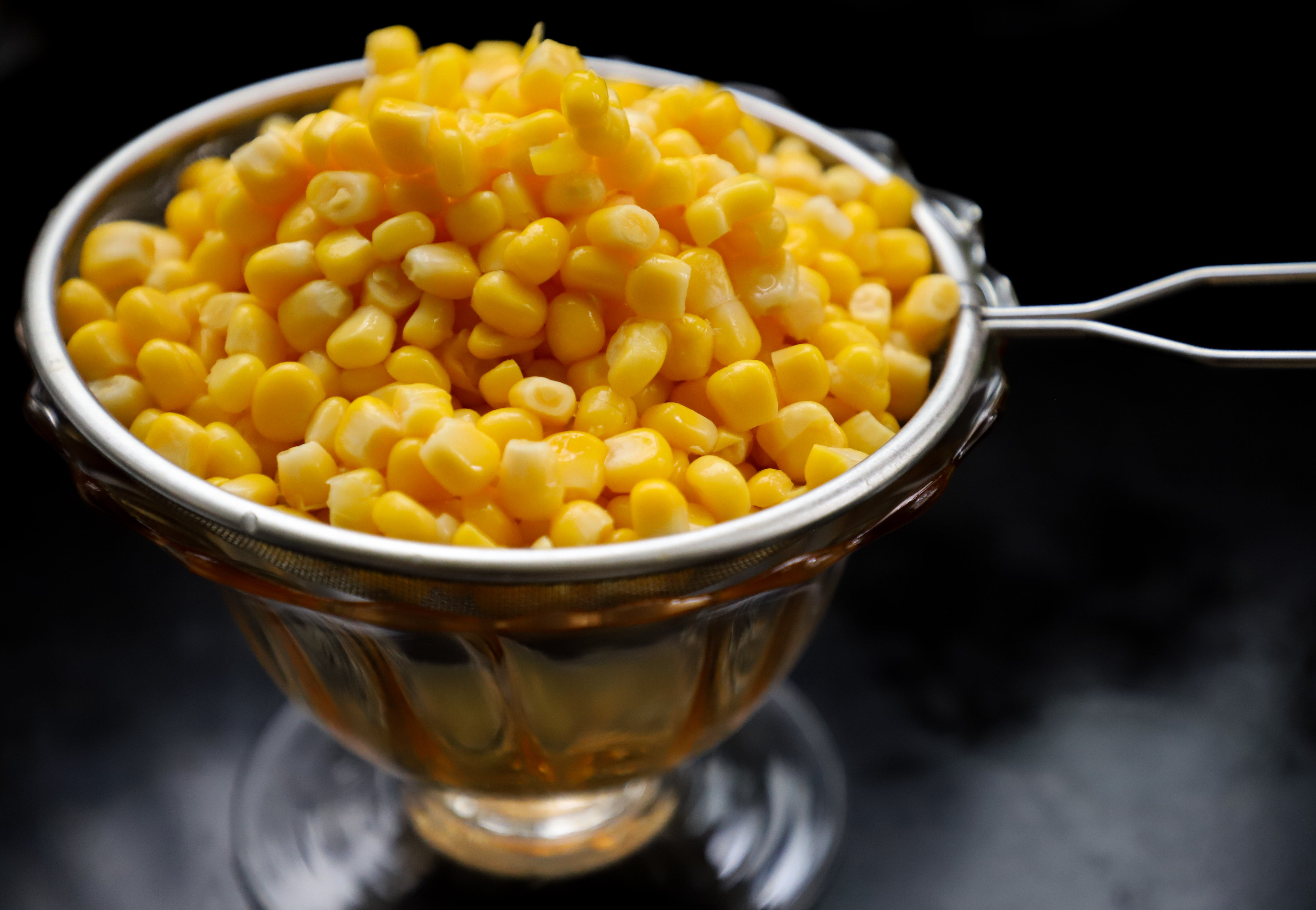 Corn Kernels On Strainer