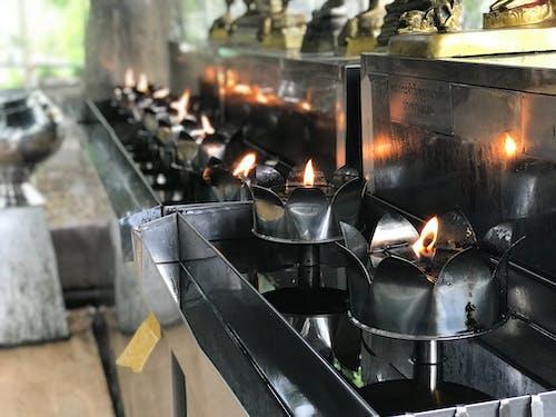 Imagine de stoc gratuită din Bangkok, lumânare, templu budist