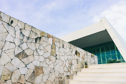 Free stock photo of stairs, sky, clouds, rocks