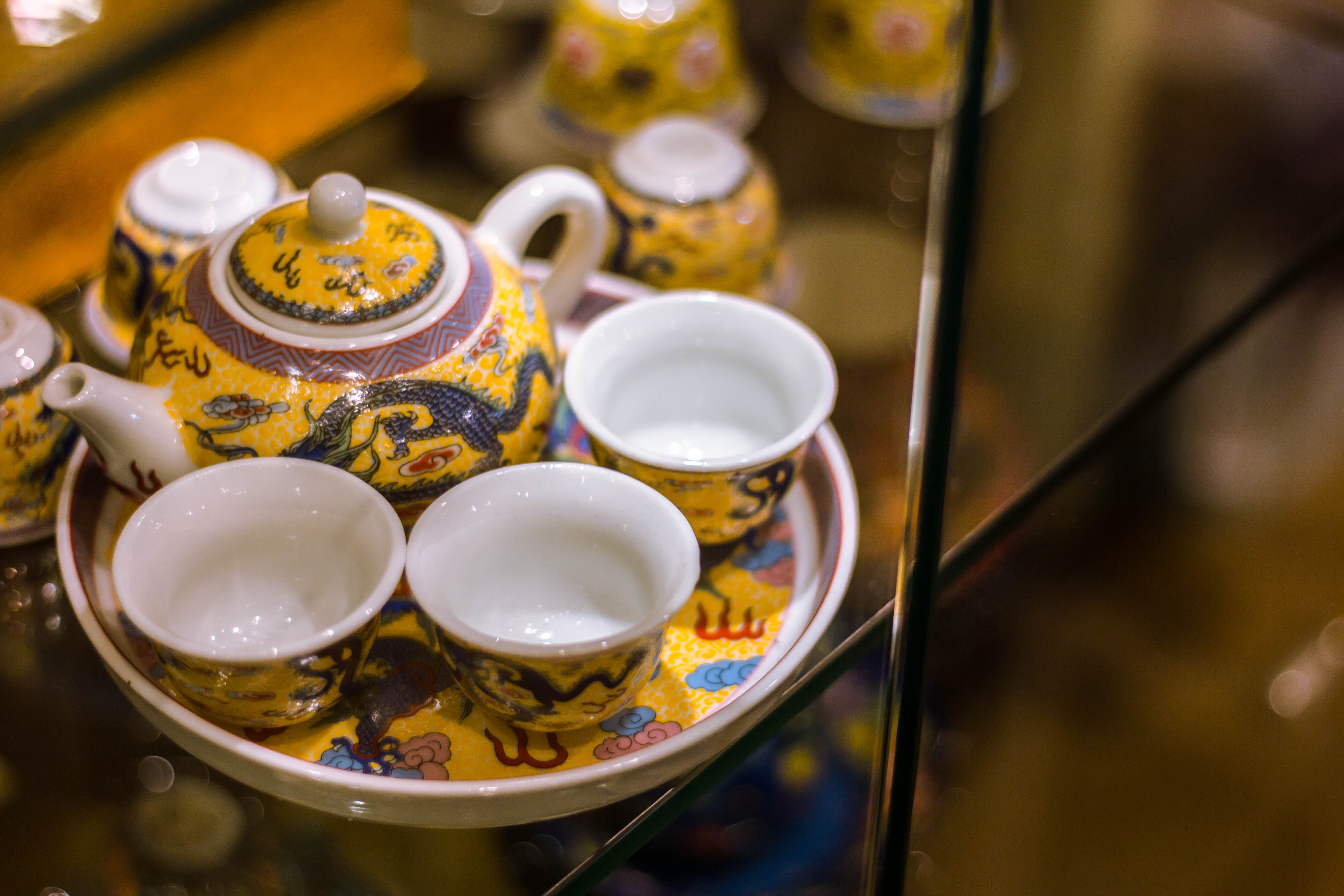 Free stock photo of antique, ceramic cup, glass