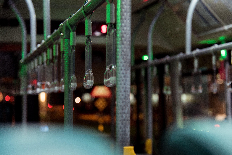 night, no person, public transport