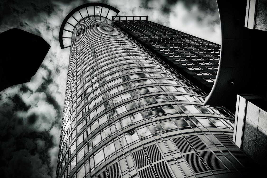 építészet, fali művészet, fekete-fehér