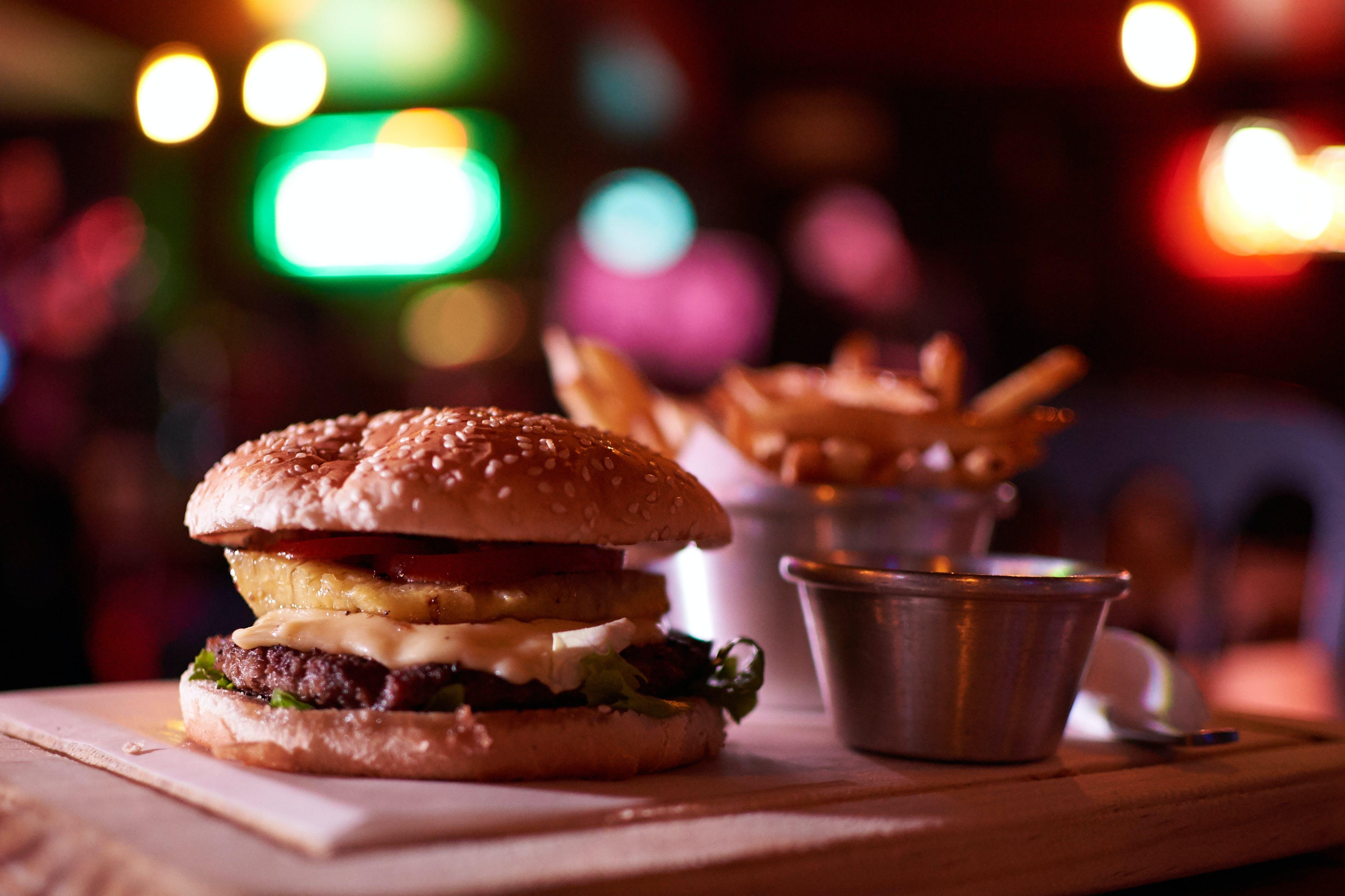 Imagine de stoc gratuită din burger, carne, cheeseburger, cină