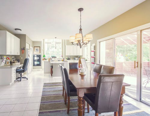 Gratis stockfoto met appartement, architectuur, binnenshuis, eetkamer